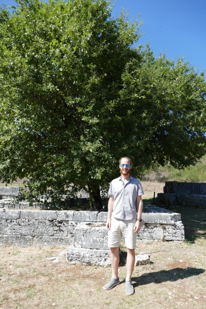 Standing in fron of Zeus' Oak at Dodona