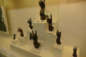 Bronze Griffin Heads; Olympia Museum