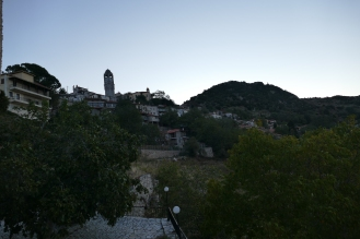 Looking at up Dimitsana from our hotel