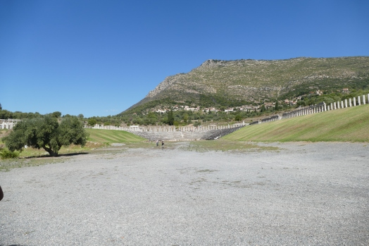 The stadium at Messene looking at Mt. Ithome