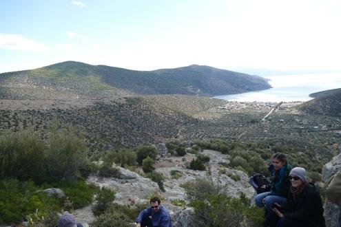 Chorsiae looking south toward the Corinthian Gulf