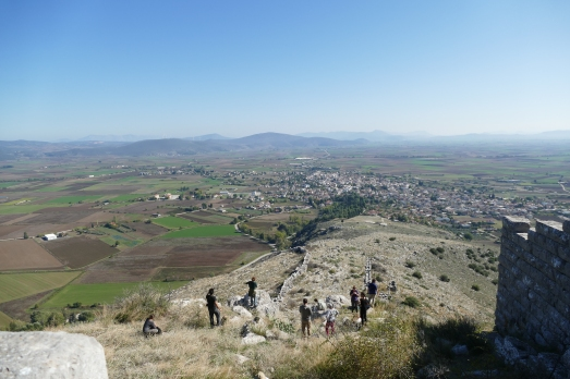A view from the acropolis at Orchomenos