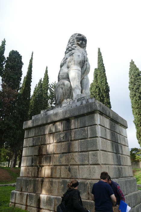 The Lion Monument at Chaeronea