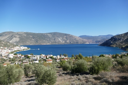 A view of the bay at Antikyra