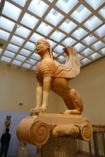The Naxian Sphinx (Delphi Museum)