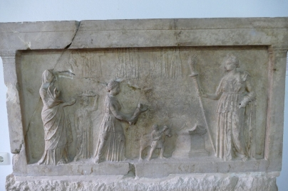 Dedicatory Relief to Artemis-Eileithyia (Lamia Museum)