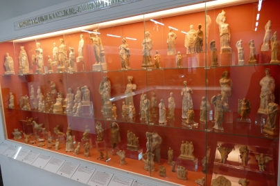 Case of votive figurines (Lamia Museum)