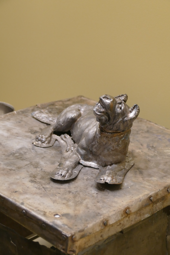 Silver box with dog (Larisa Museum)