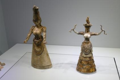 Snake Goddess statuettes