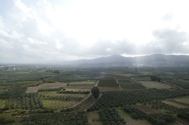 The Messara Plain from Phaistos