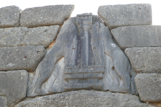 Detail of the Lion Gate at Mycenae