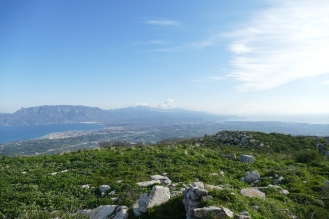 A View of the Isthmus from Acrocorinth